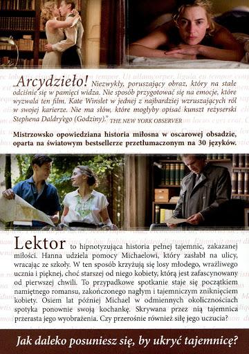 Tył ulotki filmu 'Lektor'