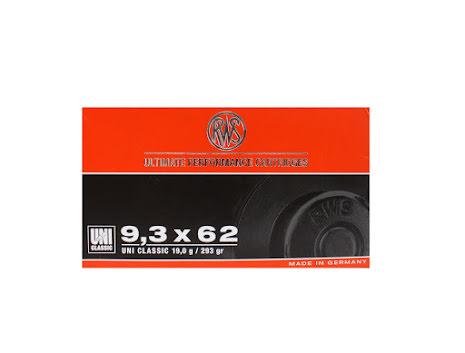 RWS 9,3x62 UNI 19,0g/ 293gr