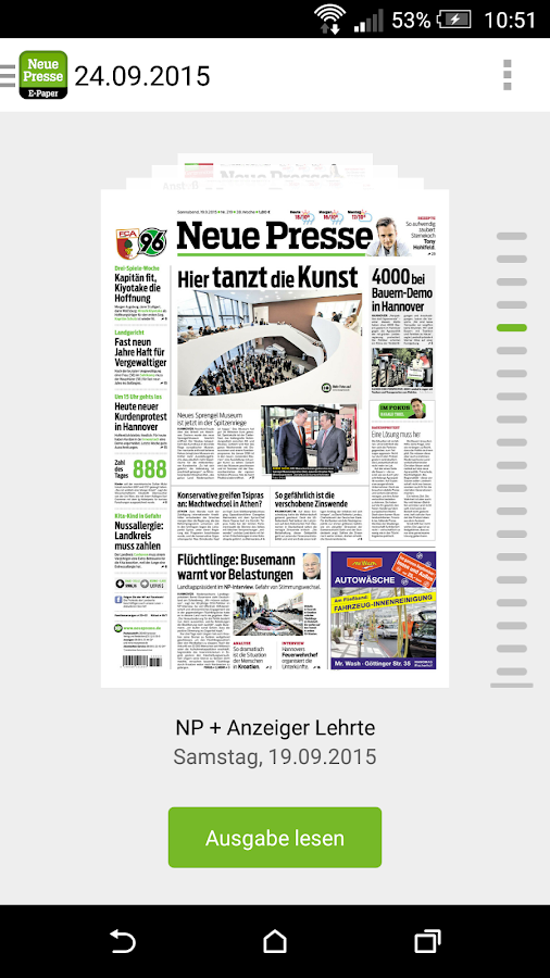 NP E-Paper – Screenshot