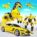 Flying Muscle Car Robot Transform Horse Robot Game icon