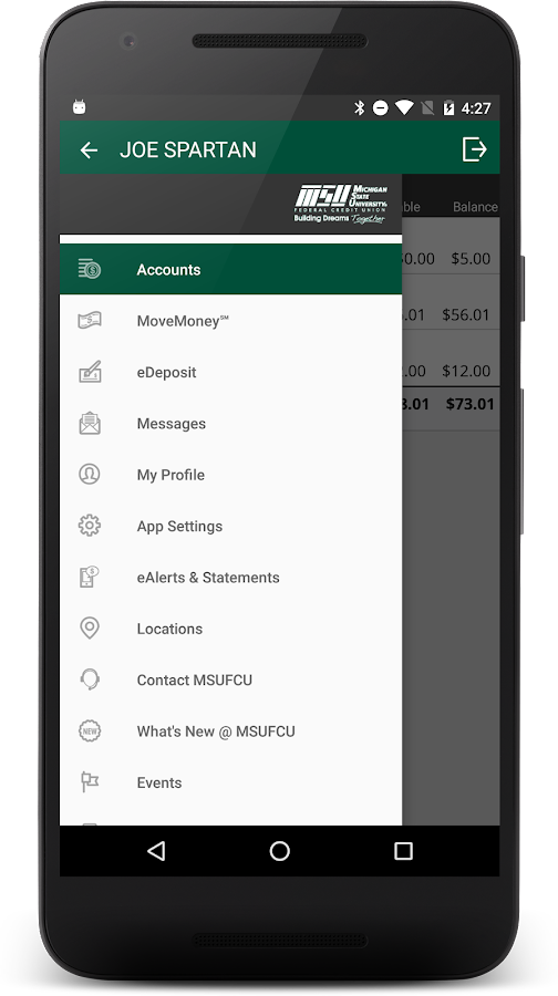 MSUFCU Mobile- screenshot