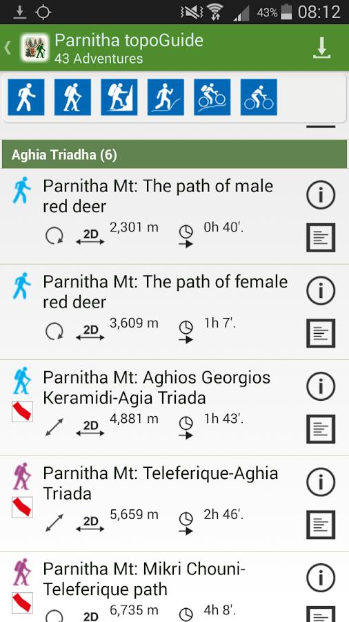 Πάρνηθα topoGuide - στιγμιότυπο οθόνης