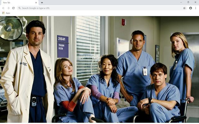 Grey's Anatomy New Tab Theme