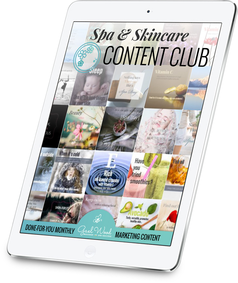 Spa & Skincare Content Club from Gael Wood