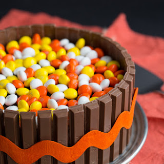 Colorful Autumn Candy Cake.
