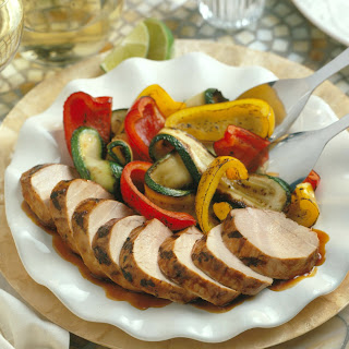 Thai Pork Tenderloin with Grilled Vegetables.