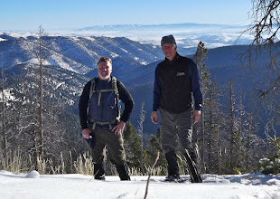 Photo: Nearing the end of our hike - near Flesher Pass. That is the Elkhorn Mountains on the horizon. Rick on the left, me on the right.