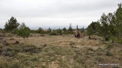 Photo: 31-3-2014: ontbossing van de bouwplaats