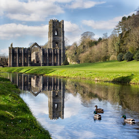 Fountains Abbey by Andrew Holland - Buildings & Architecture Places of Worship