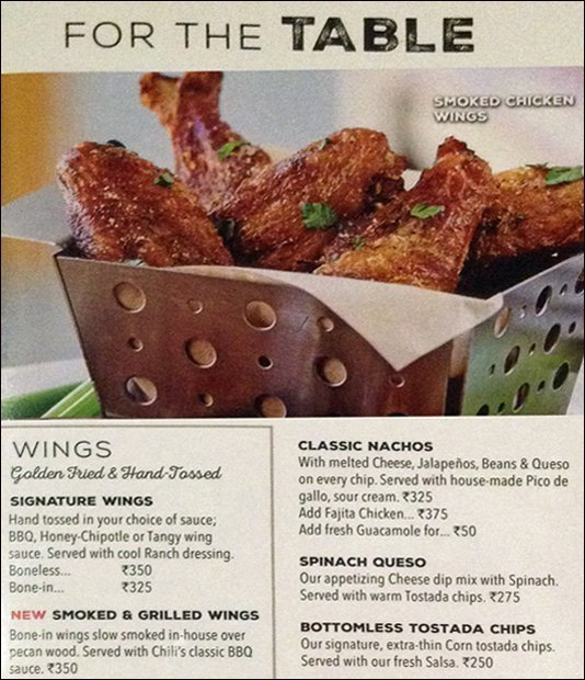 Chili's Grill & Bar menu 2