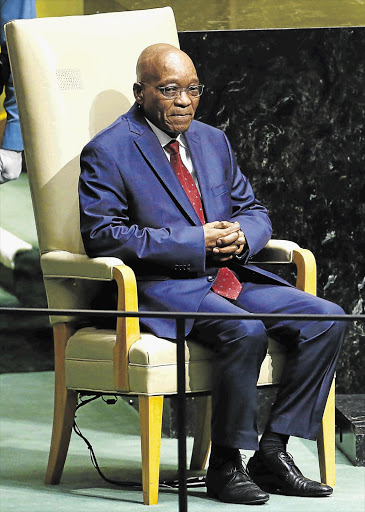HOT SEAT: President Jacob Zuma prepares to address the United Nations General Assembly in New York this week