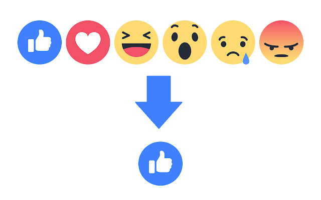 Hide reactions for facebook
