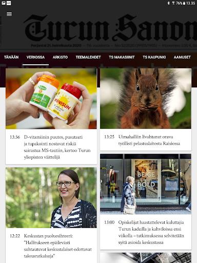 Turun Sanomat näköislehti screenshot 15