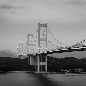 Bridge to the past by Bjørn Kristiansen - Buildings & Architecture Bridges & Suspended Structures ( japan, night, bridge )