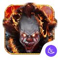 Evil Flame Scary Clown Theme & HD wallpapers icon