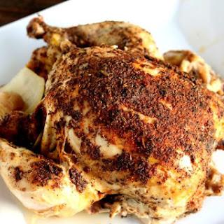 """Easy Crockpot """"Rotisserie"""" Style Chicken."""