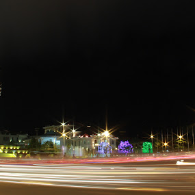 by Chamroeun Nuon - City,  Street & Park  Night