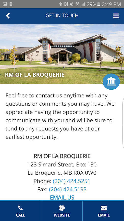 La Broquerie- screenshot