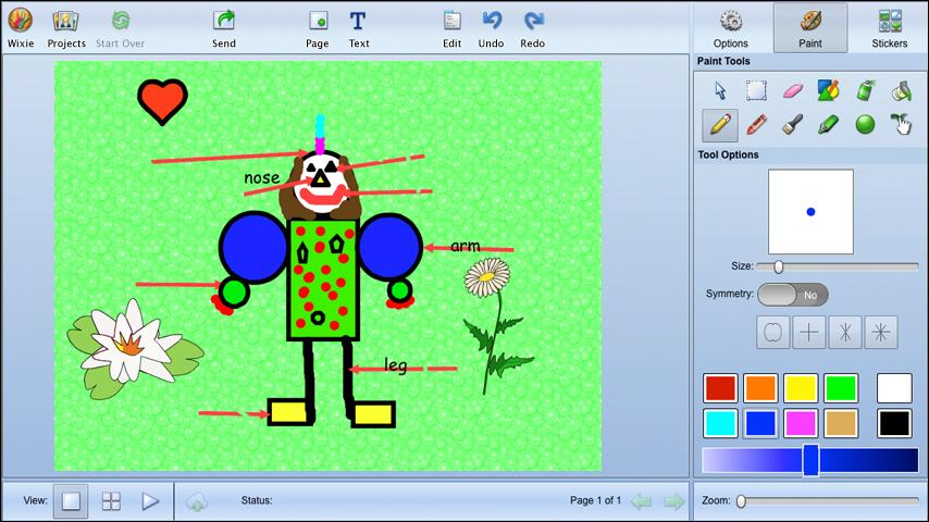 Wixie- screenshot