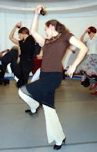 Photo: na sali tańca Małgorzata Matuszewska i Nadia Mazur