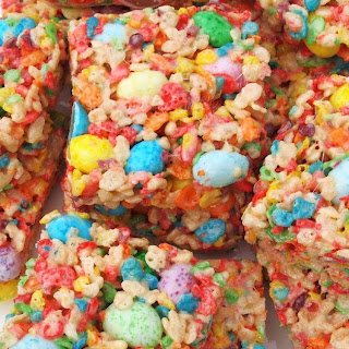Fruity Spring Cereal Squares