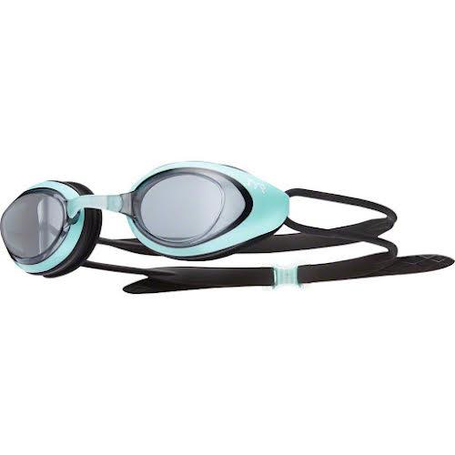 TYR Blackhawk Femme Goggle: Smoke Lens/Mint Frame/Black Gasket