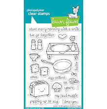 Lawn Fawn Clear Stamps 4X6 - Love N Breakfast