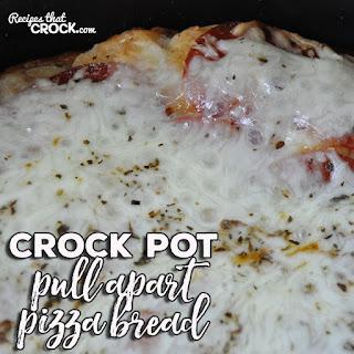 Crock Pot Pull Apart Pizza Bread.