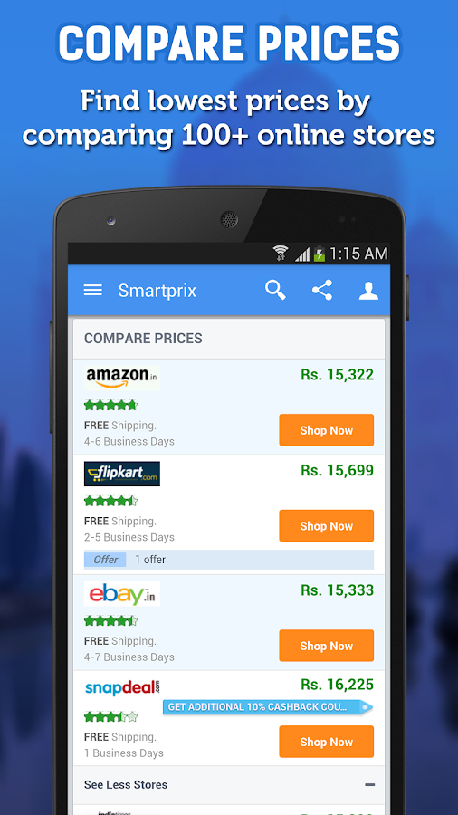 best price comparison shopping android apps on google play. Black Bedroom Furniture Sets. Home Design Ideas