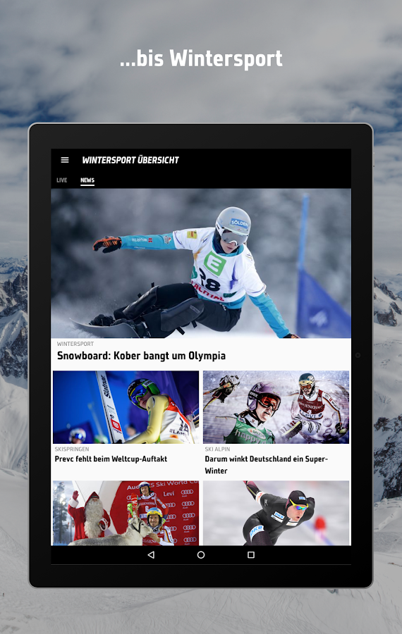 SPORT1: News, Live Ticker Ergebnisse & Videos – Screenshot