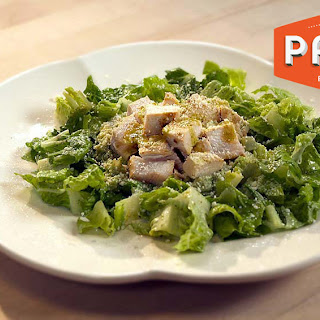 Rick Bayless' Mexican Chicken Salad With Guacamole And Fresh Romaine.