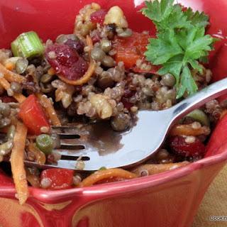 Lentil Salad with Quinoa and Maple-Balsamic Vinaigrette Recipe
