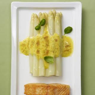 Asparagus au Gratin with Salmon.