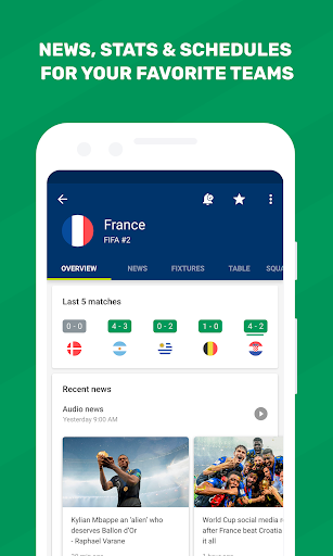 World Cup 2010 - FotMob screenshot