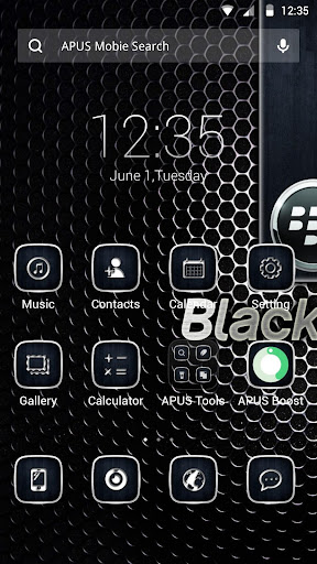 Black berry theme for APUS