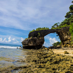 Natural Rock Formation by Chandrasekhar Yanamandra - Landscapes Caves & Formations ( coastline, rock formation, island, beach )