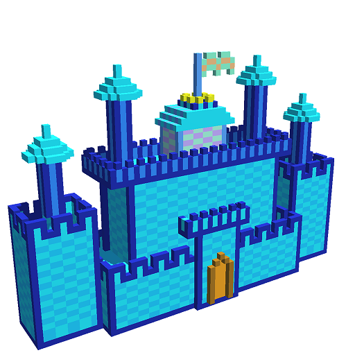Castles 3D Color by Number - Voxel Coloring Book Icon