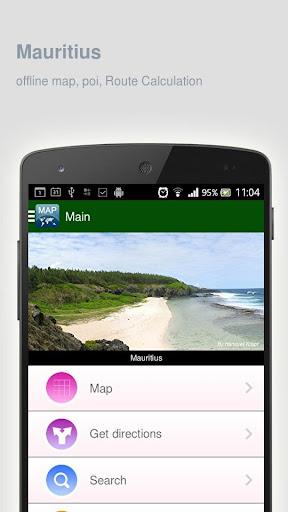 Mauritius Map offline