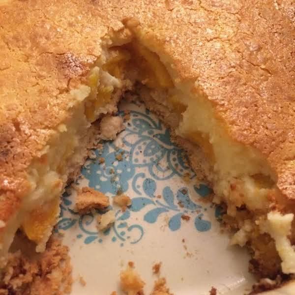 Peach Kuchen (cobbler)