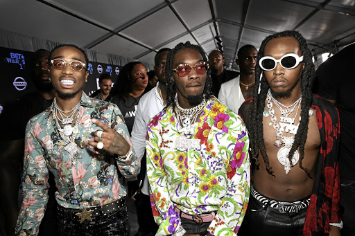 The members of US hip hop group Migos ooze swag.