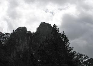 Photo: Silhouetted Sentinel Rock seen from Cook's Meadow, Day 3.  SX10 #2357