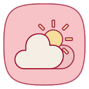 Pink Weather Icons for Chronus