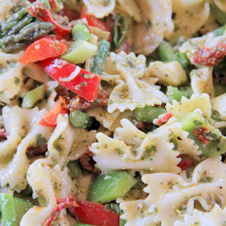 Lemon Basil Pesto Pasta Salad.