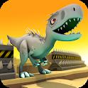 Jurassic Dino: Blue Raptor Trainer Race Game icon