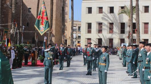 Acto de la Guardia Civil en la Plaza de la Catedral