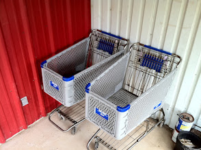 Photo: Shopping carts returned to Walmart from Brosig