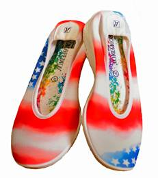 These are great shoes for wearing on cruise ships and for shore excursions. $75 at Acropedico.com