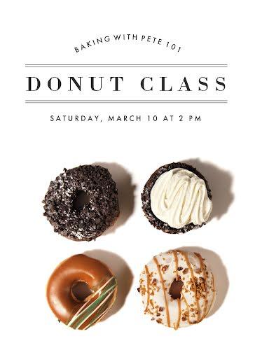 Donut Class - Photo Card Template