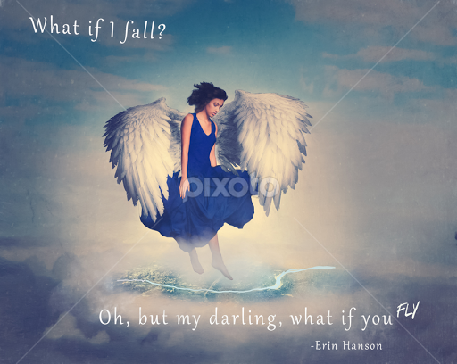 What If I Fall Quotes Sentences Typography Pixoto