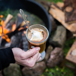 Spiced Hot Buttered Rum with Toasted Marshmallows